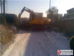 轮式挖掘机急卖,带工程一起卖