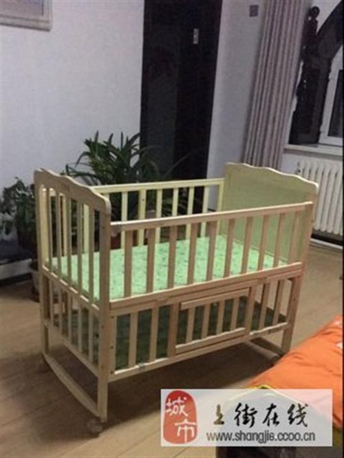 白菜价出售二手婴儿床童床,实木无漆环保