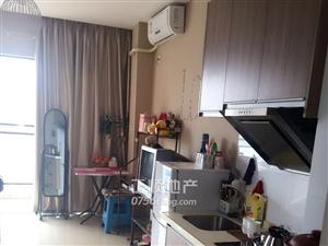 急租!总站附近中珠水晶堡-精装1房公寓家私家电齐