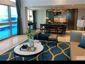 横琴新区朗庭广场100平复式3房3卫精装看海景不限购。
