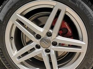 2018款奥迪A6L原厂18寸轮毂一套出售