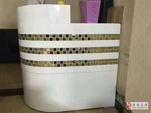 低价出售九成新洗头床,吧台,两块镜子1