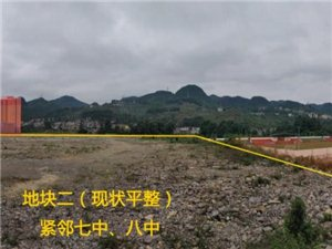 贵州省六盘水六枝特区城区中心2宗净地出让