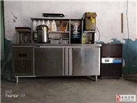 奶茶操作台、不鏽鋼冷藏工作台水吧台、制冰機、果糖機