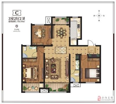3室2厅2位
