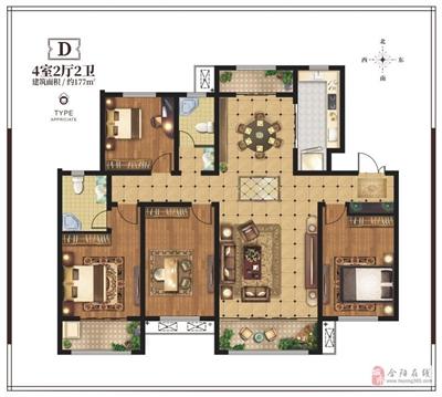4室2厅2位