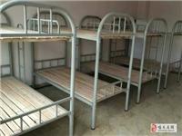 低价出售小饭桌学生上下铺铁管一体床,带木板