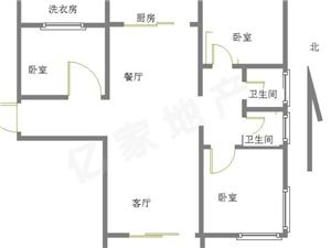 碧桂园好楼层东户3室2厅2卫98万可以贷款,有钥匙