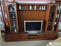 橡木电视柜背景墙,全新,但是放久了