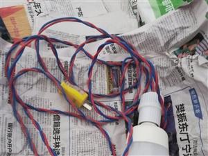 白炽灯,线长三米。工地,烧烤用