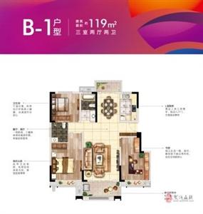 B1户型119平米