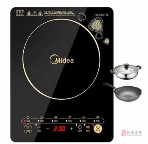出售全新美的电磁炉炒菜锅汤锅三件套