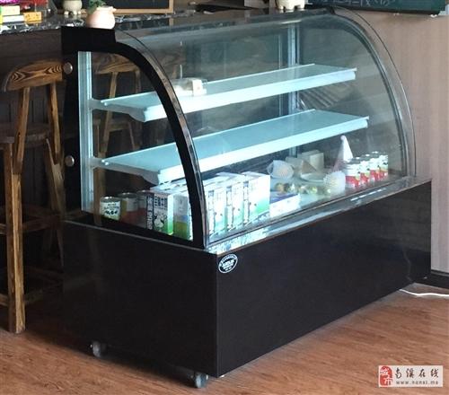 出售咖啡館、奶茶店必二手設備,冰箱+操作臺+展示柜