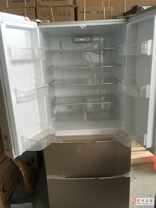 晶弘双开门冰箱,成色非常新