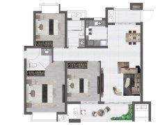 105平米�粜停� 3室2�d2�l1�N, 建筑面�e�s105.00平米
