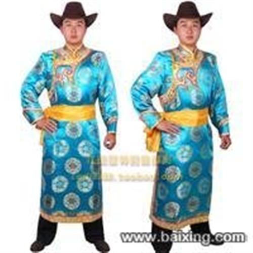 高級男蒙古袍服裝.靴子.金屬牛皮寬腰帶