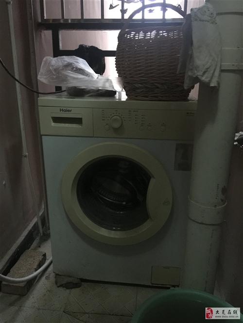 出售二手海爾滾筒洗衣機