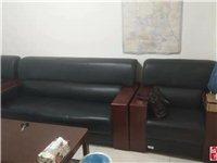 办公沙发一套(带一个大茶几、一个小茶几),办公桌