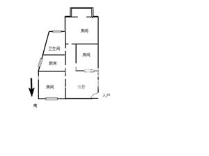 东城丽景3室1厅1卫100万元