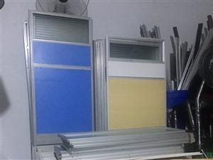 九成新办公室屏风卡位员办公桌简约现代卡位桌椅组合
