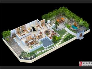重庆别墅3D户型图制作 跃层 俯视 常见的小公寓