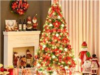 1.8米圣诞树+80cm圣诞花环闲置转让,价格美丽