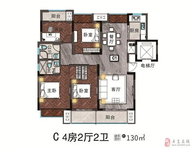 4房2厅2卫-130�O