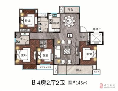 4房2厅2卫-145�O