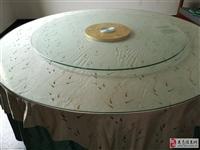 2米圆桌玻璃台面+1.4米玻璃转台