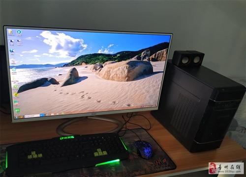 吃鸡游戏主机I5处理器8G内存32寸超博显示器