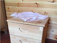 实木小床头柜
