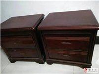 两个9成新床头柜低价转