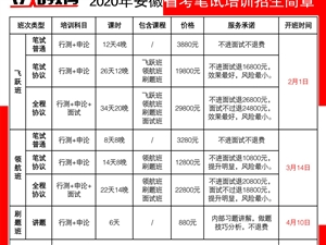 2020年安徽省省考笔试培训班招生简章-【立知教】