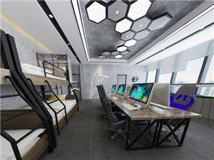 湖北大悟丨電競酒店丨網咖電競館丨裝修設計丨唯楷裝飾