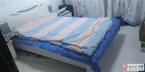 1.5,米箱床雙人床加兩個床頭柜