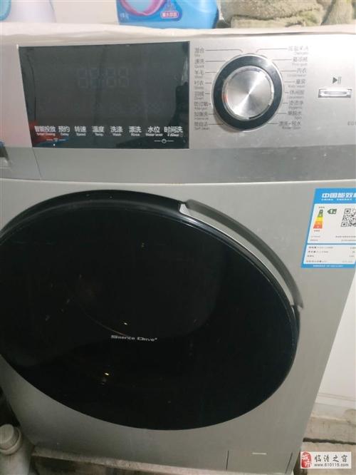 出售:海尔10公斤全自动滚桶洗衣机,九成新