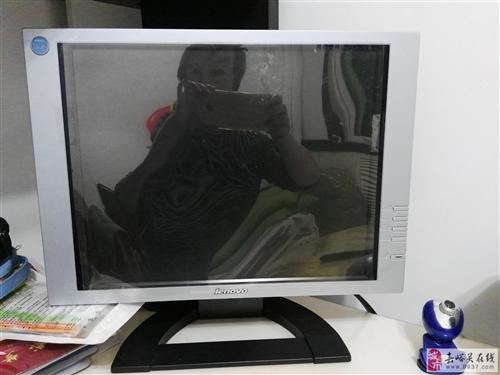 出售自家闲置联想台式电脑显示器一台、送键盘、鼠标等