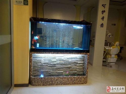 低價出售大氣造景瀑布魚缸