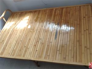 二手可折叠简易竹床,186cm长120宽