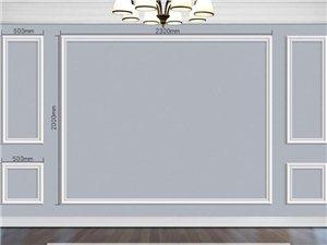 電視背景墻,實木線條安裝。