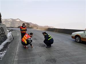盂�h� 公路管理段:疫情防控不放松  �B�o工作不懈怠