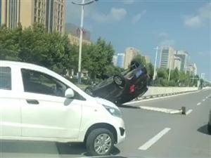 黄河五路车祸现场,据说漂移了