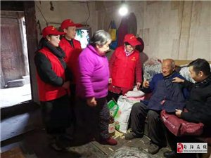 老城社区开展春节前走访慰问活动