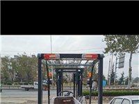 合力三吨叉车手动挡两节三米带侧移器,1.37米货叉