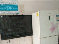 九成新三星品牌252升三开门冰箱,电子显示屏,精准温控。松下43寸液晶电视。原装进口货,画质清晰,彩...