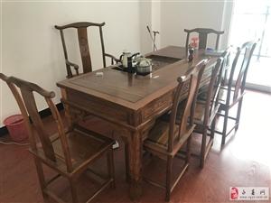 梨木茶桌,带6把椅子,表面完整,永春城区上门自取