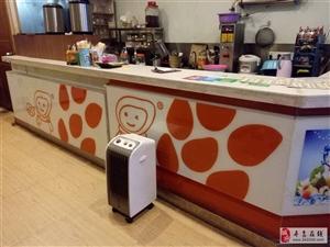 低价转让二手奶茶店大理石实木柜台