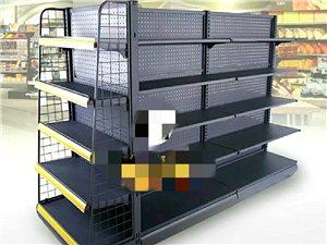 超市货架、促销台、烟柜。