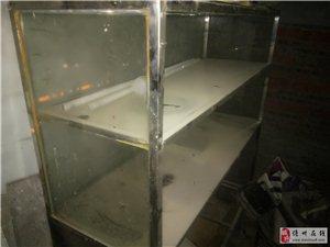 本人低价出售九成新无锈钢玻璃椰奶清补凉(快餐、粉类)移动摆放车。