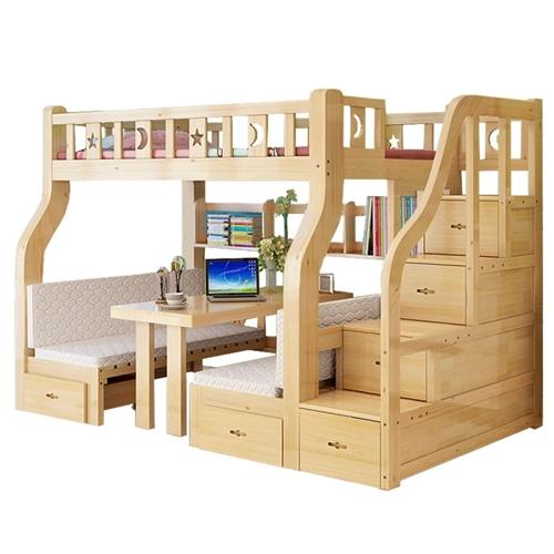 二层床,下铺能睡也可以是书桌